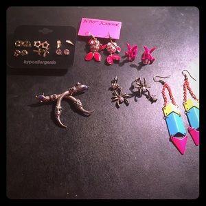 Lot of 6 pairs earrings